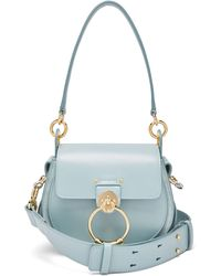 Chloé Tess Small Leather Cross-body Bag - Blue