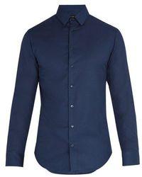 Giorgio Armani - Birdseye Cotton Shirt - Lyst