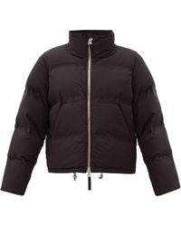 Aztech Mountain Panda Quilted-down Shell Jacket - Black