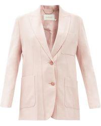 Zimmermann ルミナス オーバーサイズ リネンブレンドジャケット - ピンク