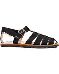 Marni Multi Strap Canvas Sandals - Black