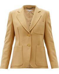 Stella McCartney エレノア ツイル シングルジャケット - ナチュラル