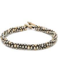 M. Cohen Jacks Beaded Sterling Silver & Gold Bracelet - Metallic