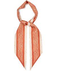 Chloé Geometric-print Silk-twill Scarf - Multicolor