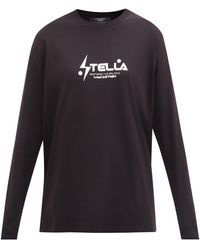 Stella McCartney コットンスウェットシャツ - ブラック