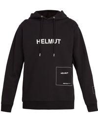 Helmut Lang - Logo-printed Hooded Sweatshirt - Lyst