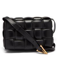 Bottega Veneta Cassette Intrecciato-leather Cross-body Bag - Black