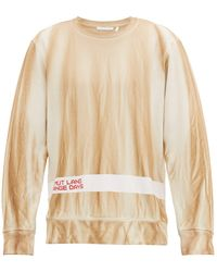 Helmut Lang Strange Days Cotton-jersey Sweatshirt - Natural