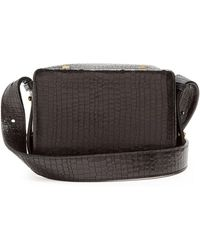 Lutz Morris - Maya Small Crocodile-effect Leather Cross-body Bag - Lyst