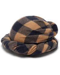 Gucci - Checked Wool Turban Hat - Lyst