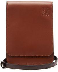 Loewe Gusset Flat Leather Cross-body Bag - Multicolour