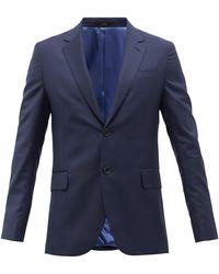 Paul Smith ウールツイル シングルスーツジャケット - ブルー