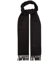 Max Mara キャメル スカーフ - ブラック