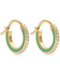 Raphaele Canot - Skinny Deco Diamond, Enamel & Yellow-gold Earrings - Lyst