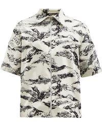 Givenchy ジップアップ コットンショートスリーブシャツ - マルチカラー