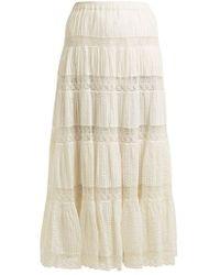 Mes Demoiselles - Havilah Lace-insert Tiered Skirt - Lyst