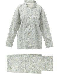 Domi Pyjama en coton biologique à imprimé floral - Blanc