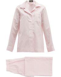 Emma Willis Zephirlino Gingham Cotton-blend Pyjamas - Pink