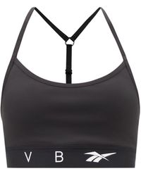 Reebok X Victoria Beckham ロゴ ジャージースポーツブラ - ブラック