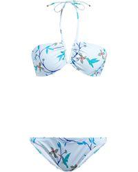 Thorsun Kate Floral-print Bikini Set - Blue