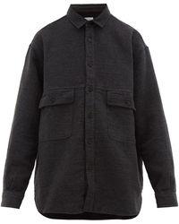 Raey Oversized Textured Cotton-blend Shirt - Black