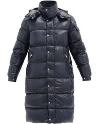 Moncler Hanoverian Down-quilted Hooded Coat - Blue