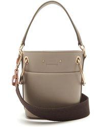 Chloé - Roy Mini Leather Bucket Bag - Lyst