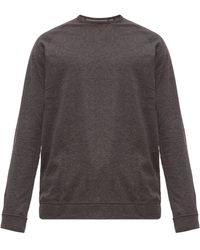 Paul Smith Logo Tab Cotton Jersey Pyjama Top - Gray