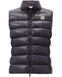 Moncler Ghany Down-filled Gilet - Blue