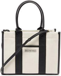 Balenciaga ネオ ネイビー S キャンバストートバッグ - ブラック