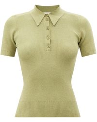 JoosTricot Ribbed Organic Cotton-blend Polo Shirt - Multicolour