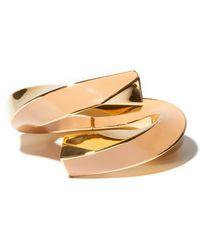 Bottega Veneta - エナメル 18kゴールドプレーテッドカフブレスレット - Lyst
