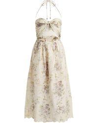 Zimmermann - Iris Picnic Floral-print Linen Dress - Lyst