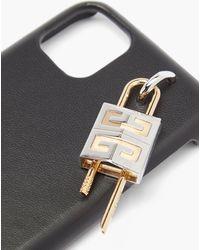 Givenchy 4g パドロック Iphone 11 レザーケース - ブラック