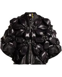 6 Moncler Noir Kei Ninomiya Veste florale matelassée - Noir