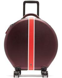 OOKONN Front Stripe Circular Cabin Suitcase - Multicolour