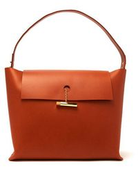 Sophie Hulme - Large Pinch Leather Tote Bag - Lyst