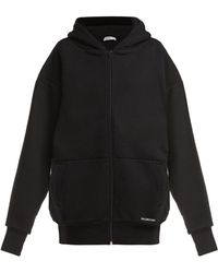Balenciaga - Oversized Cotton Hooded Sweatshirt - Lyst