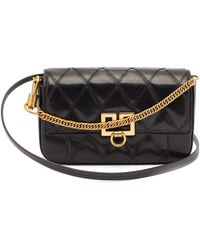Givenchy Gv3 Mini Leather Cross-body Bag - Black