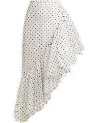 Rodarte | Asymmetric Polka-dot Ruffle Skirt | Lyst