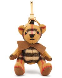 Burberry - Thomas Bear Backpack House Check Cashmere Keyring - Lyst