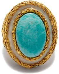 Aurelie Bidermann Liz Turquoise Gold-plated Ring - Multicolour