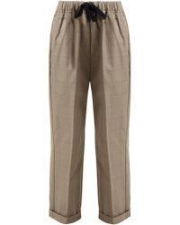 Chimala - Checked Cotton Drawstring Waist Trousers - Lyst