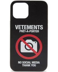 Vetements アンチソーシャル Iphone 12 Pro ケース - ブラック