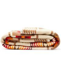 Pendleton - Harding Jacquard Wool Blend Blanket - Lyst
