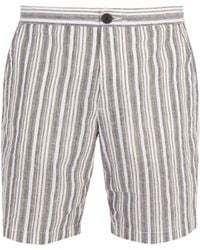 Oliver Spencer - Striped Cotton And Linen Blend Shorts - Lyst