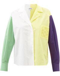 Loewe カラーブロックシャツ - イエロー