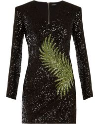 Balmain - Sequin Embellished Mini Dress - Lyst