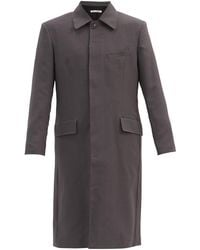 Our Legacy Dolphin Single-breasted Wool Coat - Gray