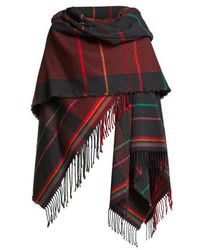 Vivienne Westwood Anglomania - Tartan Hooded Poncho - Lyst